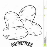 Potato Coloring Potatoes Pages Mashed Printable Sketch Illustration Getcolorings Template sketch template