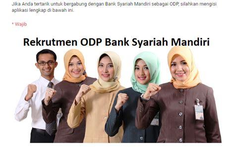 lowongan kerja odp  bank syariah mandiri list kerja