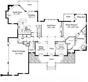 colonial floor plan house plan 97756 at familyhomeplans