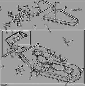 Mower Deck And Discharge Chute  Export   Deck Sn M00072d