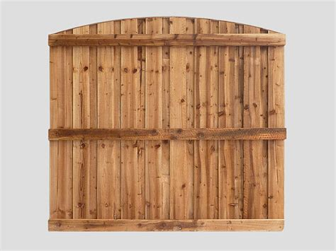 traditional garden fence panels tanalized brown curved pennine solid panel pennine fencing