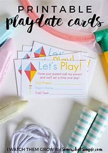 Birthday Card Template Printable Printable Playdate Invite Cards Cards Invitations