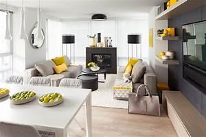 Salon Gris Et Bois : d co salon gris blanc bois en 35 id es pour revitaliser votre int rieur ~ Melissatoandfro.com Idées de Décoration