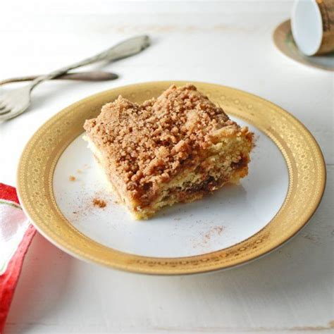 Add the eggs one at a time, then add the vanilla and sour cream. Coffee Cake. Ina Garten's famous coffee cake recipe! This is a perfect baked good for the ...