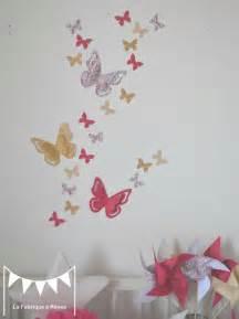 decoration chambre fille papillon
