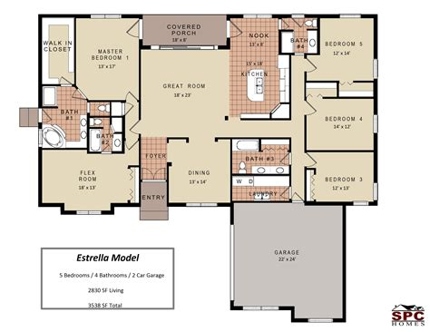 1 bedroom house plans 5 bedroom one floor plans with house and gallery
