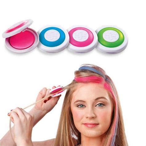 hair powder color 2pcs 4 colors diy dye hair powder temporary hair chalk