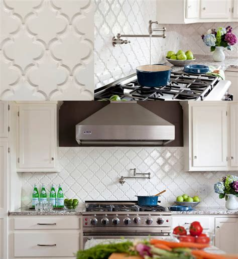 Kitchen Backsplash Tile Home Depot by This Coconut Grove Beveled Arabesque Glazed Ceramic