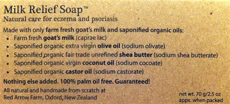 ingredients milk relief soap