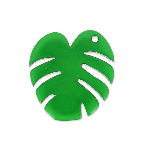 pendentif tropical feuille de philodendron  mm vert