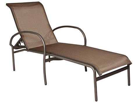 code promo chaise longue woodard rivington sling aluminum stackable chaise lounge 6a0470