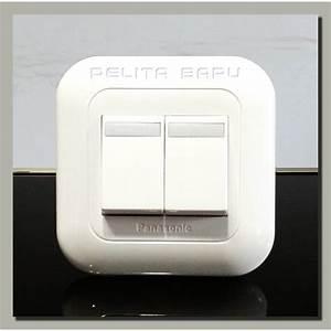 Saklar Hotel Ganda    Seri Panasonic Wide Series Putih
