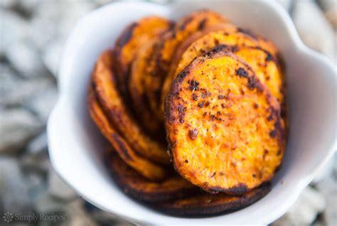sweet potato recipie oven baked sweet potato fries recipe simplyrecipes com