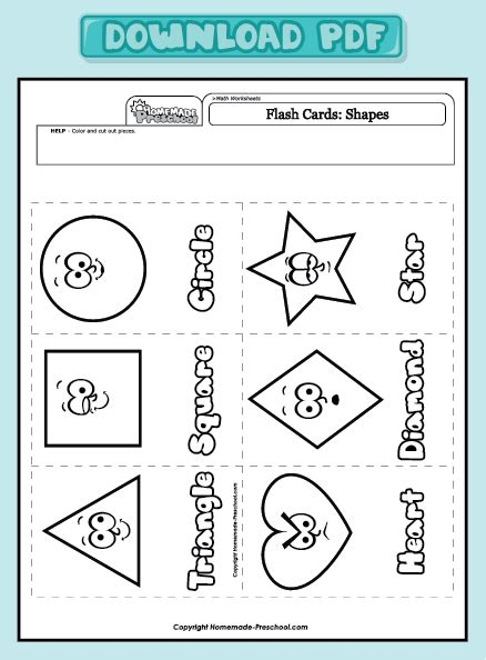 preschool review shape worksheets for kindergarten pdf printable shapes 246