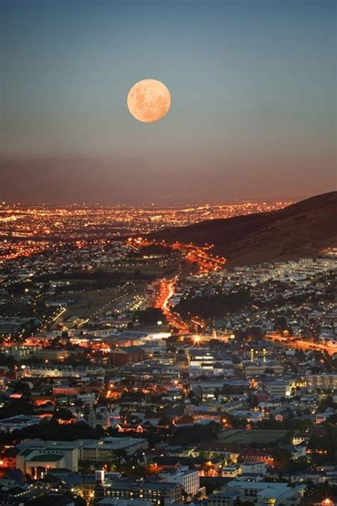 beautiful full moon view places   world  wow