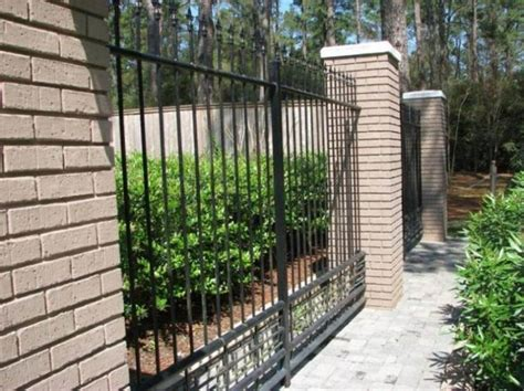 modern black iron fence  home  home ideas