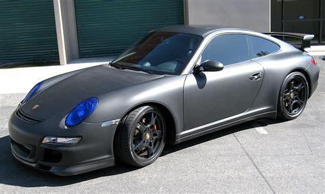 matte color car matte black color change wrap for porsche image