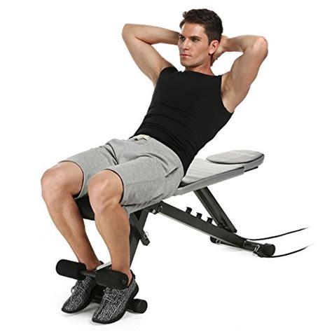ancheer adjustable weight bench sit  incline decline