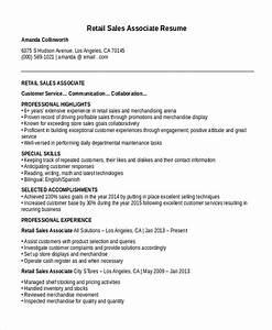 sales associate resume template 8 free word pdf With free retail sales resume templates