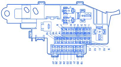 2000 Tundra Tundra Fuse Box Diagram by Toyota Tundra 2005 Dash Fuse Box Block Circuit