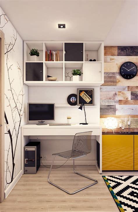bureau peu encombrant meubles bureau à la maison modernes pour optimiser l 39 espace