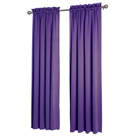 sun zero purple gregory room darkening pole top curtain