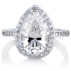 zirconia engagement rings analisse 39 s cubic zirconia pear cut halo engagement ring