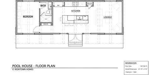 pool house floor plans pool house irontown homes