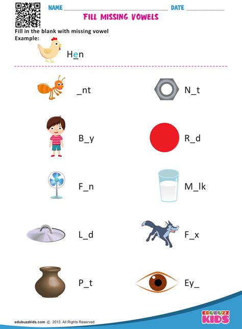 kindergarten missing vowels worksheets  printable