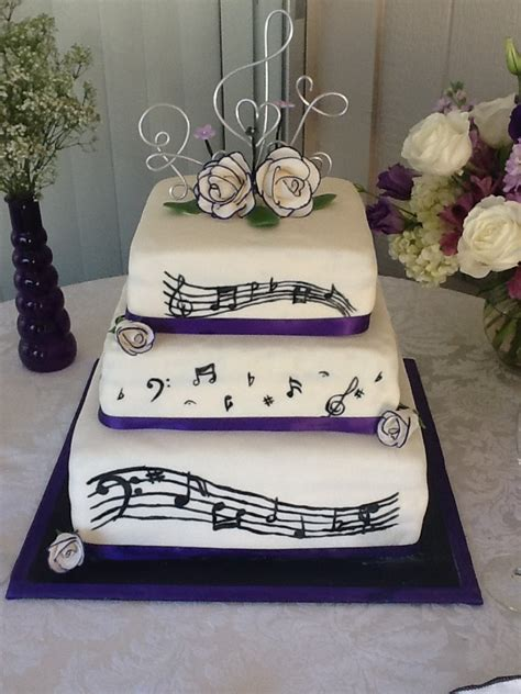 Music Wedding Cake Home