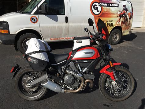 Ducati Scrambler Kitted For Adventure With Giant Loop