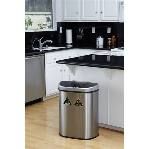 double garbage can cabinet cabinet double trash can rev a shelf double roll gallon