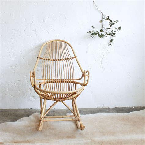 rocking chair en rotin rocking chair rotin vintage atelier du petit parc