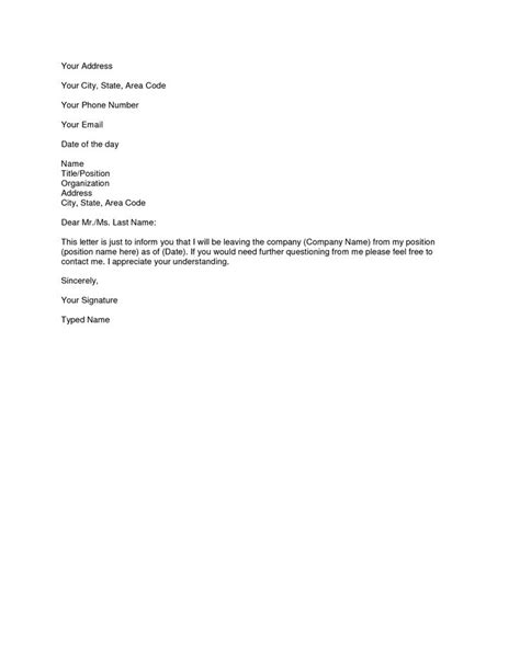 resignation letter images  pinterest