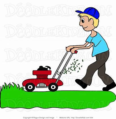 Lawn Clipart Clip Landscaping Mow Grass Cutting