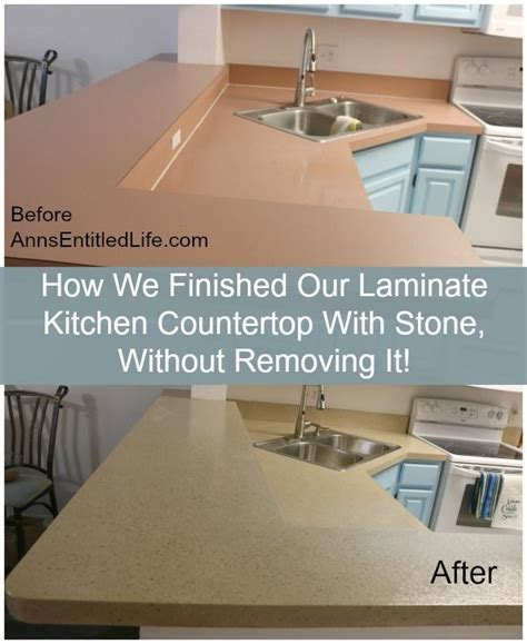 How We Finished Our Laminate Kitchen Countertop With Stone