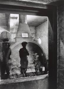 Reflection Of Woman Viewing Oven  Auschwitz Concentration