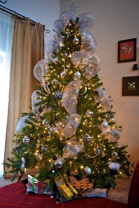 silver mesh for the christmas tree christmas tree ideas