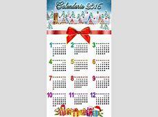 Calendario 2016 para esta navidad Calendarios 2018 para
