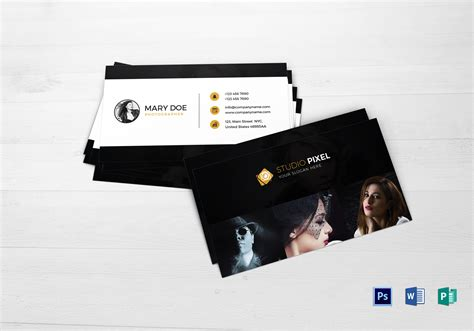 fashion photography business card design template  psd