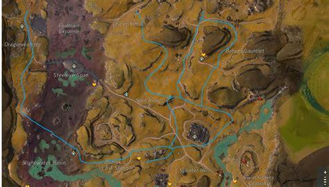 blazeridge steppes farming gw2 gathering route locations almar too