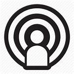 Icon Podcast Broadcast Host Announcer Audio Episode