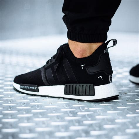 NMD R1 Black and White Adidas