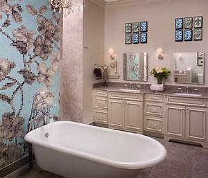 Wall designs for bathrooms : Bathroom wall art decorating ideas home constructions