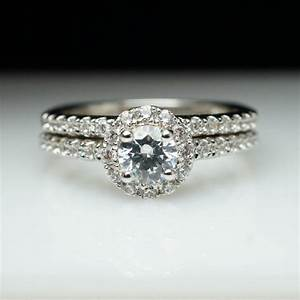 round halo diamond engagement ring wedding band complete With wedding bands that go with halo rings