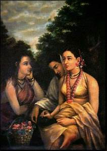 A beautiful, century old painting of Shakuntala by the ...