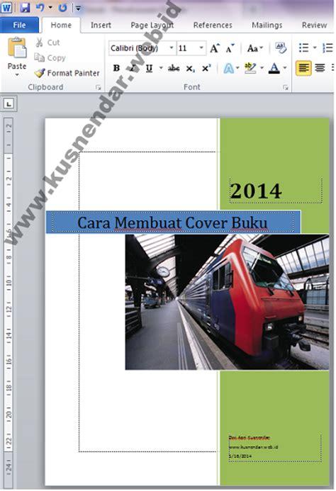 tutorial membuat cover buku  microsoft word