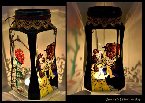 Beauty And The Beast Candle Holder By Bonniemarie On