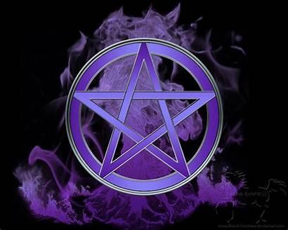 Pentacle Wiccan Prosperity Wonderland Pentagram Pagan Purple