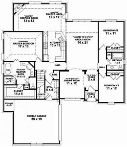 simple house plan with 3 bedrooms and garage house floor With simple modern 3 bedroom house plans